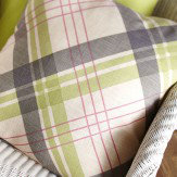 Arthouse Pink/Green Tartan Cushion