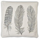 Arthouse Blue Feather Embroidered Cushion