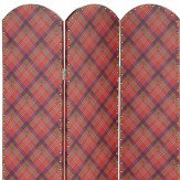 Arthouse Fairburn Red Studded Screen Room Divider
