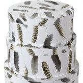 Arthouse Plume Round Set of 3 Storage Boxes Finishing Touch