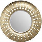 Arthouse Holed Mirror Gunmetal