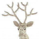 Arthouse Lace Deer with Fabric Finish Art