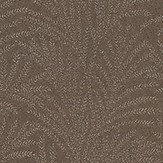 Galerie Metallic Ferns Brown Wallpaper