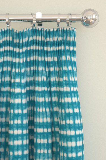Scion Kali  Turquoise/Jasmine Curtains - Product code: 120324