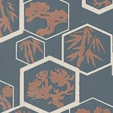 Farrow & Ball Shouchikubai   Navy Wallpaper - Product code: BP 4504