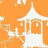 Thibaut South Sea  Orange Wallpaper