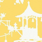 Thibaut South Sea Yellow Wallpaper
