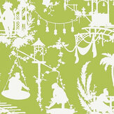Thibaut South Sea  Green Wallpaper