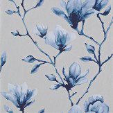 Harlequin Lotus  Indigo Wallpaper - Product code: 110881