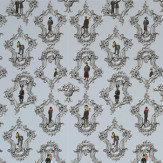 Graduate Collection Gentlemens Wallpaper Blue Black / Pale Blue - Product code: Gentlemens Wallpaper