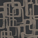 Harlequin Asuka Gold/Onyx Wallpaper - Product code: 110906