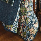 Morris Strawberry Thief Quilted Throw Indigo