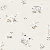 Sanderson Dogs in Clogs Vanilla Wallpaper