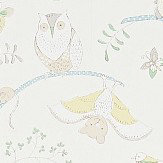 Sanderson Going Batty Sky Blue/Buttercup Wallpaper