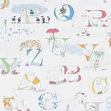 Sanderson Alphabet Zoo  Rainbow Brights Wallpaper