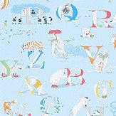 Sanderson Alphabet Zoo  Powder Blue/Multi Wallpaper