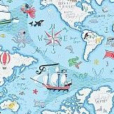 Sanderson Treasure Map  Sea Blue Wallpaper