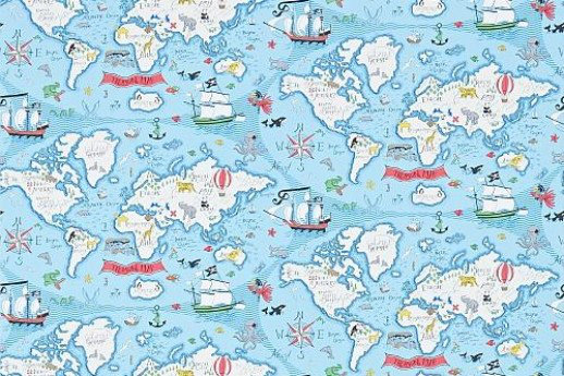 Treasure map by sanderson sea blue wallpaper direct gumiabroncs Images