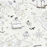 Sanderson Treasure Map Neutral Wallpaper