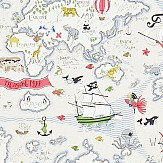 Sanderson Treasure Map  Vanilla / Multi Wallpaper - Product code: 214040