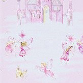 Sanderson Fairy Castle Pink Wallpaper