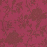 John Morris Floral Trail Raspberry Wallpaper