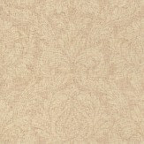 John Morris Damascene Mid Brown Wallpaper
