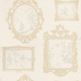 John Morris Gallery Toile Beige Beige / Neutral Wallpaper
