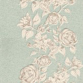 John Morris Boutique Rose Jade Wallpaper