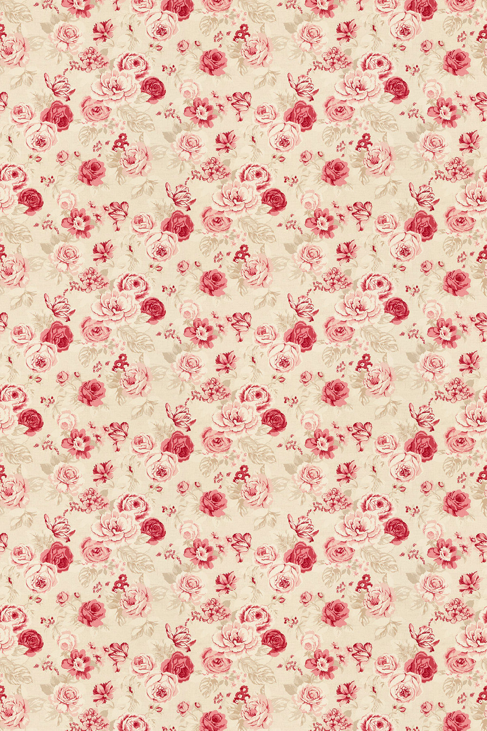 Studio G Genevieve Raspberry Fabric main image