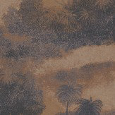 Matthew Williamson Cocos Blackcurrant/Terracotta Blackcurrant / Metallic Terracotta Wallpaper