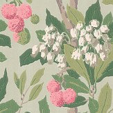 Cole & Son Strawberry Tree  Pink & Duck Egg Wallpaper
