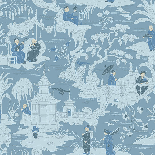Cole Son Chinese Toile Blue Wallpaper Main Image