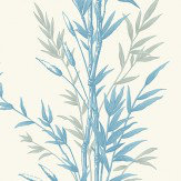 Cole & Son Bamboo  Blue and Ivory Wallpaper