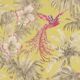 Matthew Williamson Bird of Paradise Lemon/Coral Lime / Coral / Taupe Wallpaper
