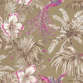 Matthew Williamson Bird of Paradise Fuchsia/Purple Fuchsia / Metallic Gold Wallpaper - Product code: W6655-02