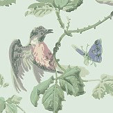 Cole & Son Winter Birds  Duck Egg Wallpaper