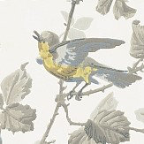 Cole & Son Winter Birds  Yellow & Grey Wallpaper