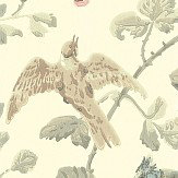 Cole & Son Winter Birds  Linen Wallpaper