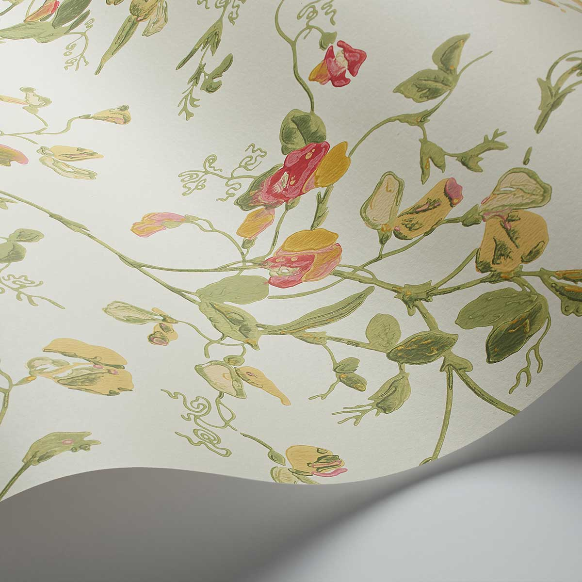 Sweet Pea  Wallpaper - Pink & Yellow - by Cole & Son