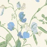 Cole & Son Sweet Pea  Blue Wallpaper