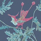 Cole & Son Hummingbirds Indigo Multi-Colour Wallpaper