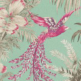 Matthew Williamson Bird of Paradise Fuchsia / Jade Wallpaper