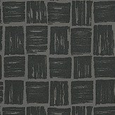 Nina Campbell Mahayana Black Lacquer Wallpaper - Product code: NCW4185-06
