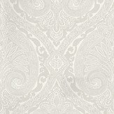 Nina Campbell Khitan French Grey Grey / White Wallpaper - Product code: NCW4186-02