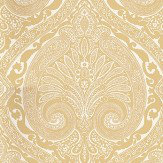 Nina Campbell Khitan Yellow Yellow / Off White Wallpaper - Product code: NCW4186-03