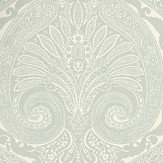 Nina Campbell Khitan Aqua Aqua / Off White Wallpaper - Product code: NCW4186-04