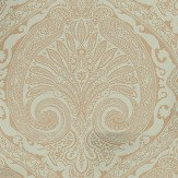 Nina Campbell Khitan Eucalyptus and Gilver Duck Egg / Gilver Wallpaper - Product code: NCW4186-07