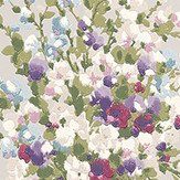 Nina Campbell Suzhou Magenta, Amethyst and Grey Grey / Purple / Pink Wallpaper - Product code: NCW4184-01