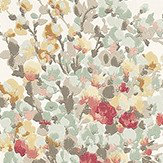 Nina Campbell Suzhou Aqua, Coral and Ochra Red / Aqua / Yellow Wallpaper - Product code: NCW4184-03